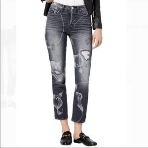 Hudson Zoeey High Rise Cropped Jeans Distressed